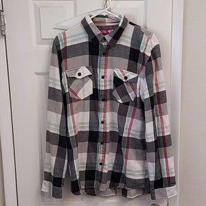 Vans Men's flannel XL shirt button up plaid